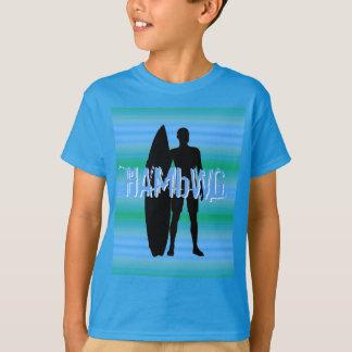 HAMbWG - camisa de T - inclinações do azul do Aqua