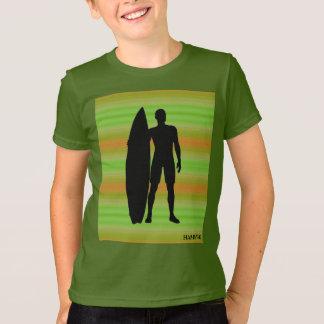 HAMbWG - camisa de T - surfista verde-oliva dos