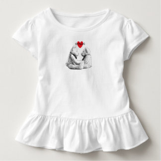 HAMbWG - camisa do T das crianças - amor do urso
