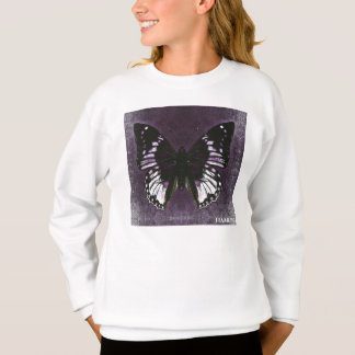 HAMbWG - camisa do T das crianças - borboleta roxa