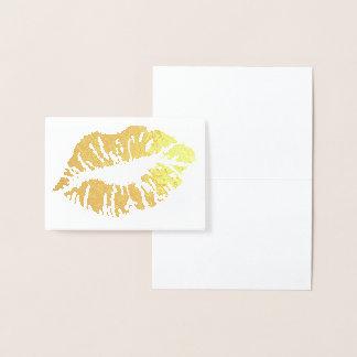 HAMbWG - cartão da folha de ouro - lábios