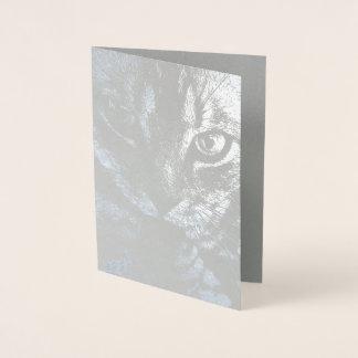 HAMbWG - cartão da folha de prata - gato