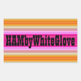 HAMbWG - etiqueta - logotipo cor-de-rosa do por do
