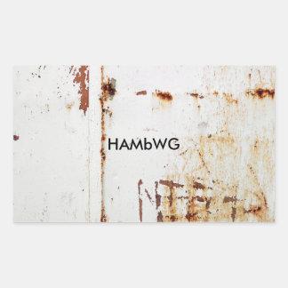 HAMbWG - etiquetas - logotipo branco afligido de w