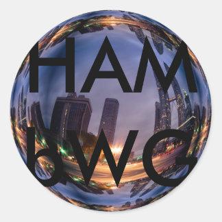 HAMbWG - etiquetas - reflexão da cidade