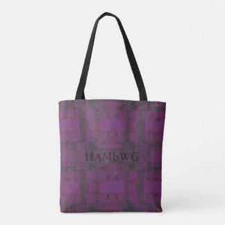 HAMbWG - o bolsa - violeta/carvão vegetal