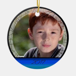 HAMbWG - ornamento redondo - azuis marinhos