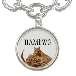 HAMbWG - prata ou jóia chapeada prata do encanto Bracelete