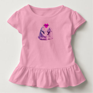 HAMbWG - vestido da criança - amor do urso de