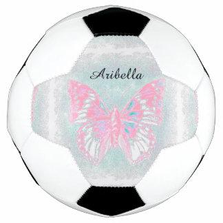 HAMbyWG - bola de futebol - borboleta cor-de-rosa