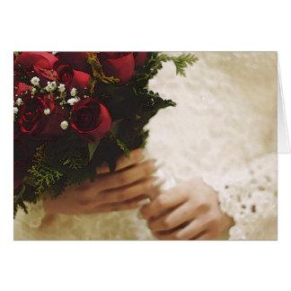 HAMbyWG - cartão - noiva com rosas