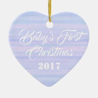 HAMbyWG - ornamento dado forma coração - bebê