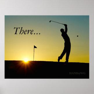 HAMbyWG - poster - jogador de golfe no por do sol