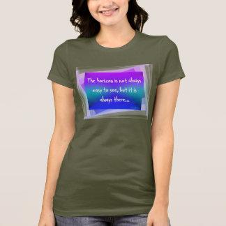 HAMbyWG - t-shirt fino do jérsei - o horizonte Camiseta