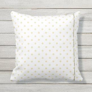 HAMbyWG - travesseiro   - bolinhas brancas bege Almofada Para Ambientes Externos