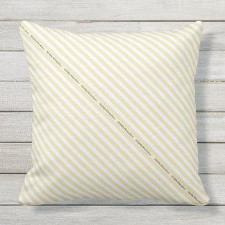 HAMbyWG - travesseiro   - listra branca bege Almofada Para Ambientes Externos