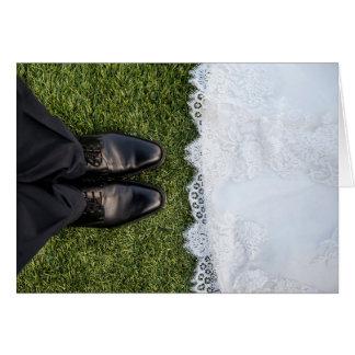 HAMbyWhiteGlove - cartão - pés da noiva & do noivo
