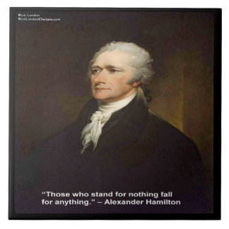"Hamilton ""queda para qualquer coisa"" azulejo"
