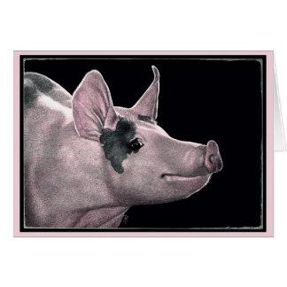 """""""Hammin ele acima"""" - cartão do porco"""