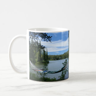 Hammock, banco, caneca do lago mountain