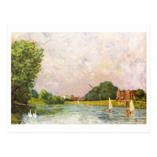 Hampton Court 1874 do bei de Alfred Sisley - de Th Cartao Postal
