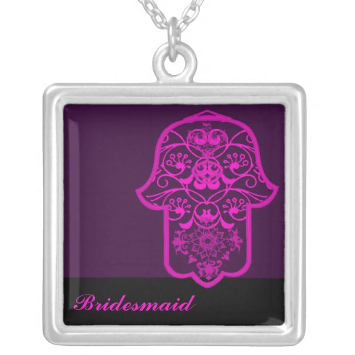 Hamsa floral (rosa) (casamento) bijuterias