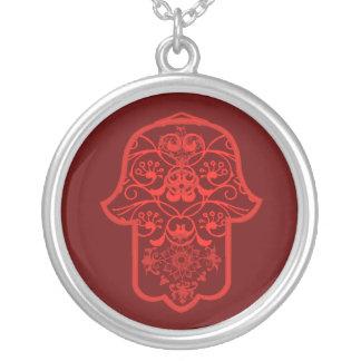 Hamsa floral vermelho bijuterias