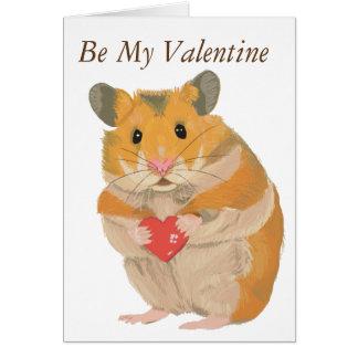 Hamster bonito que guardara um coração cartão comemorativo