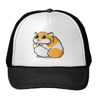 Hamster colorido dos desenhos animados com olhos boné