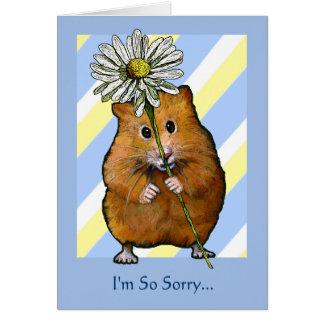 HAMSTER com margarida, eu sou… desculpa tão Cartão Comemorativo