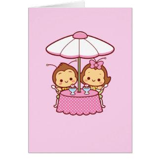 Hana & Hachi - sorvete Cartão Comemorativo