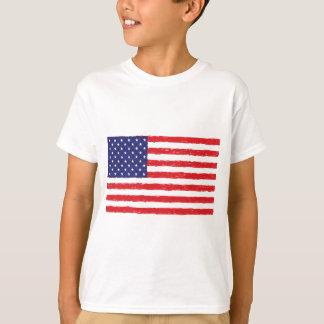 *Hand americano Sketch* da bandeira dos EUA nós Camiseta