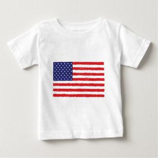 *Hand americano Sketch* da bandeira dos EUA nós Camiseta Para Bebê