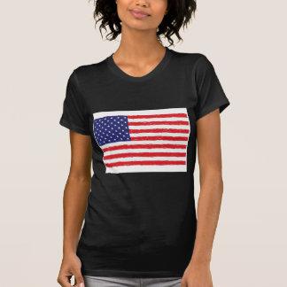 *Hand americano Sketch* da bandeira dos EUA nós T-shirts