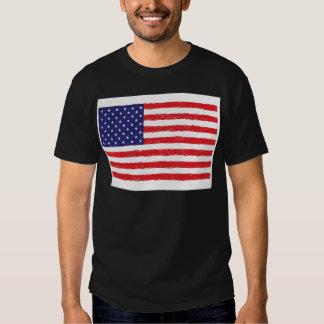 *Hand americano Sketch* da bandeira dos EUA nós Tshirt