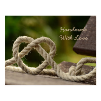 Handmade com cartão do amor