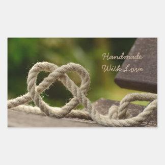 Handmade com etiquetas do amor