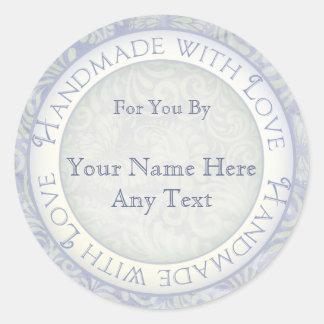 Handmade com etiquetas do amor para Crafters,