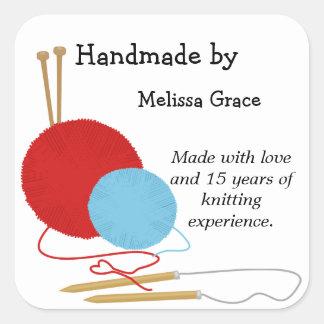 Handmade fazendo malha etiquetas