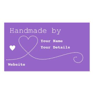 Handmade perto: Tag do negócio do artesanato - Cartão De Visita