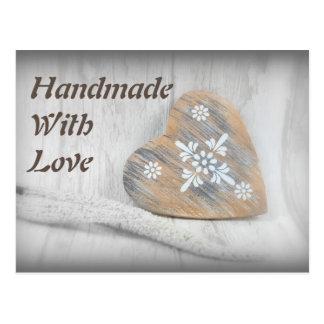 Handmade rústico com cartão do amor