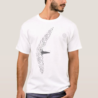 HANG GLIDING LETRAS BLACK CAMISETA