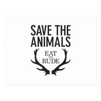 Hannibal Lecter - coma o rude (salvar os animais) Cartão Postal