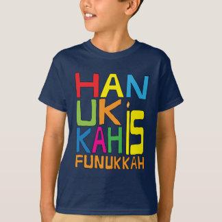 Hanukkah é camisa de Funukkah/camisa cor escura