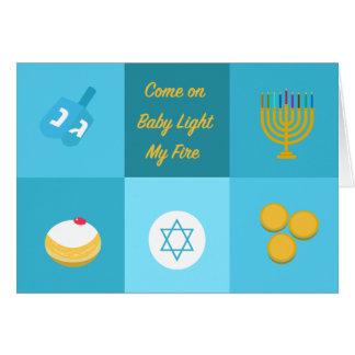 Hanukkah engraçado cartão comemorativo