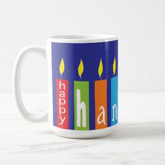 Hanukkah feliz Candles a caneca