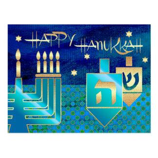 Hanukkah feliz. Cartão personalizados de Hanukkah
