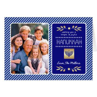 Hanukkah feliz. Cartões com fotos customizáveis