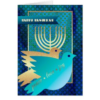 Hanukkah feliz. Cartões customizáveis