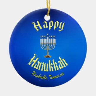 Hanukkah feliz do ornamento de Nashville Tennessee